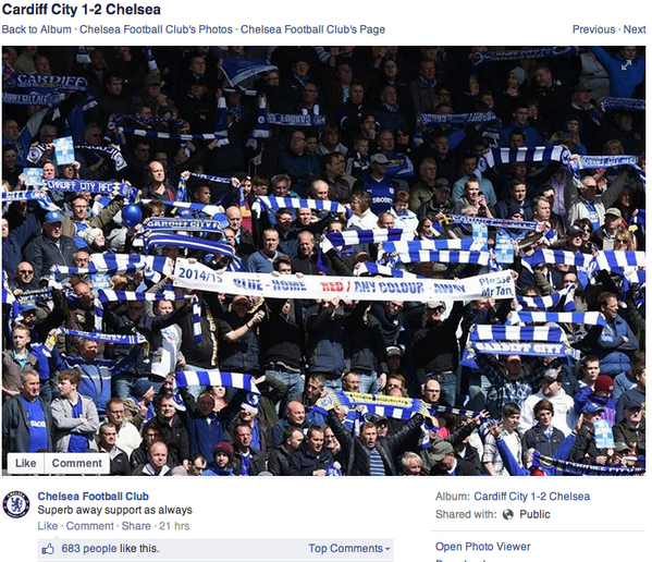 Chelsea can't recognise their own fans http://t.co/O4ju2aGHNC