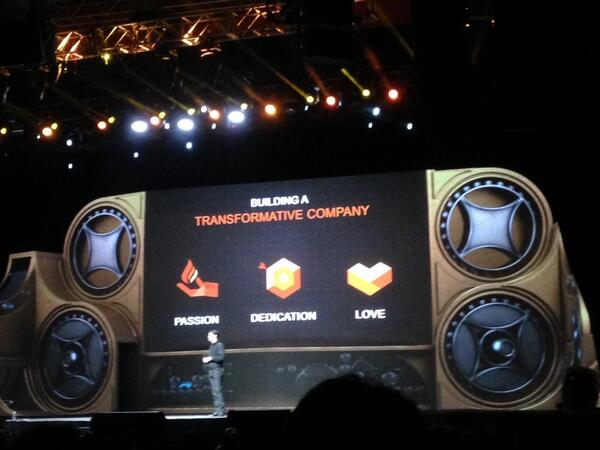 GigaSavvy: It takes 3 things to build a transformative company: 'passion, dedication, love'. #MagentoImagine http://t.co/ad5bOOr9Y6