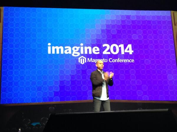 bobbyshaw: .@royrubin05 takes to the stage #MagentoImagine #transform http://t.co/NRCulFff3r