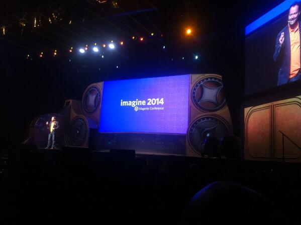 monsieurfred: @Lengow at the Opening #MagentoImagine keynote with @royrubin05 and @mklave1 http://t.co/eO1uR6N49E