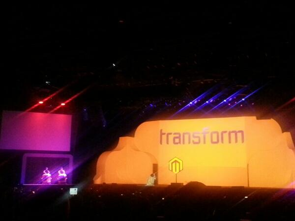 SmartgiftIt: Big show to intro the keynotes at #MagentoImagine with Cirque du Soleil style drums and visuals http://t.co/oMOxcrBOwV