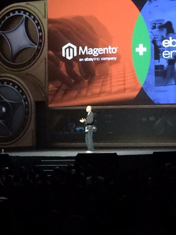 YoavKutner: @royrubin05 giving the keynote @magentoimagine http://t.co/bJRBt8S52w