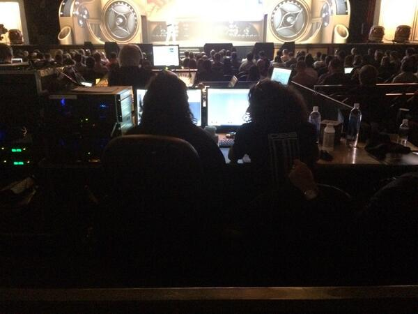 slkra: Behind the scenes #MagentoImagine wizards making it happen while @royrubin05 delivers the keynote! http://t.co/tNFdZx1yoC