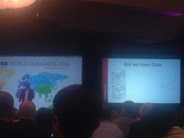 """According to @LutzFinger, @linkedin has data. """"Measure the right data, and learn the right things"""" he says #inmawc14 http://t.co/EorPK8oTwj"""