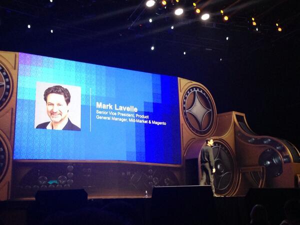 phoenix_medien: Mark Lavelle, Senior Vice President Product on stage #MagentoImagine http://t.co/uQMsxguiJl