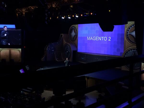 magento_rich: Mark talking about Magento 2. #MagentoImagine http://t.co/MsCupOmWsU