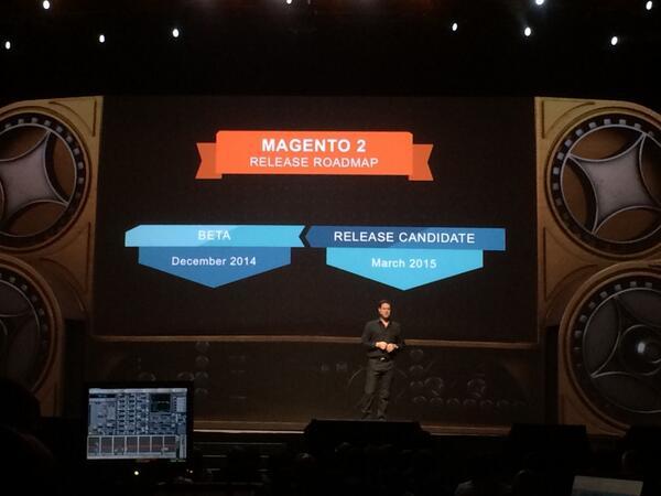 slkra: #Magento 2 beta to be released this year! /cc @ismagento2ready #MagentoImagine http://t.co/ZRMa5aV7x0
