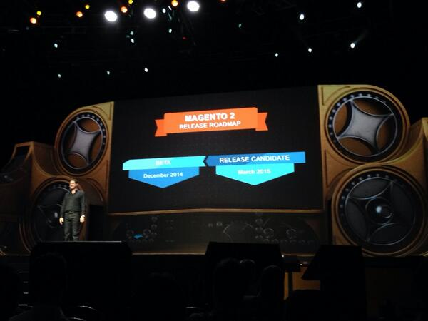 BookPal_US: Mark Lavelle announces the release of Magento 2 to the public in March 2015!! #MagentoImagine http://t.co/wZnTgqVFbl