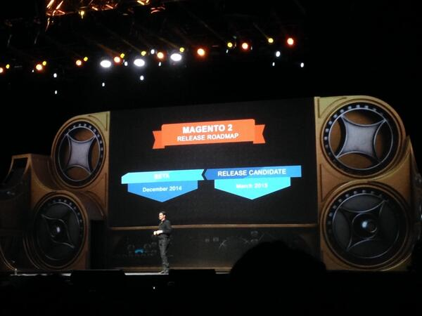 GigaSavvy: Magento 2 beta will be out in December! Will be the most modern, open, flexible commerce system. #MagentoImagine http://t.co/xWZn4Y0guA