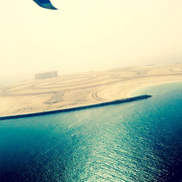 Lunch at the beautiful Waldorf & the view from the sky of awesome Marjan. Feels like Freedom....in blue. http://t.co/FV15NIrgag