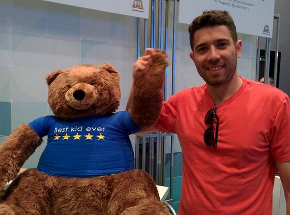 Yotpo: Teddy & Dov (our Biz Dev guy) are all 'Bring it on, Day 2!' #MagentoImagine http://t.co/rcEyp0OrWq