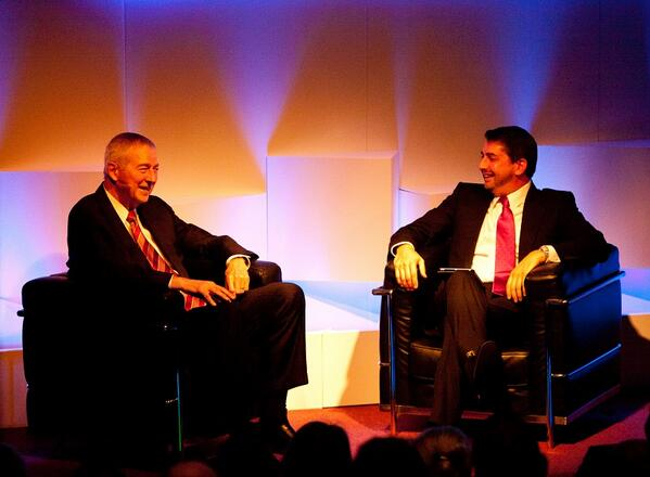 At #PBLS14 in London today @SASsoftware CEO Jim Goodnight (left) talks #BigData #analytics w/ @jon_briggs http://t.co/A7vIVM1XD0