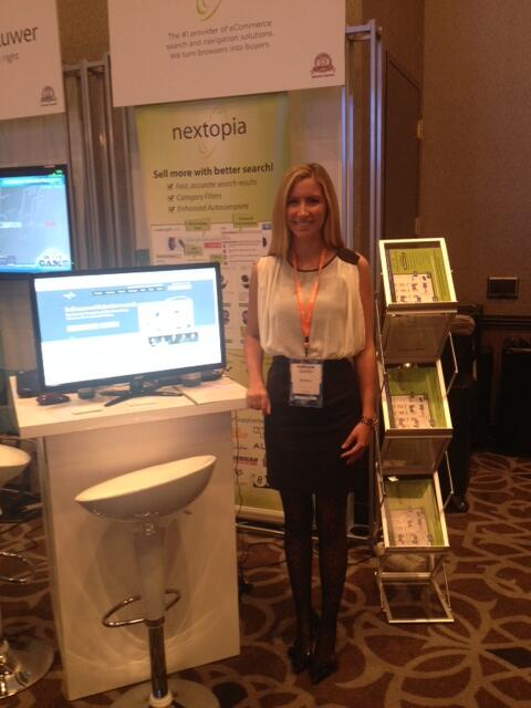 Nextopia: Day 2 of #MagentoImagine! Here's Kathryne, one of our Account Execs, at our booth. Drop by Kiosk 53 and say hello! http://t.co/AOWt1NCTpw
