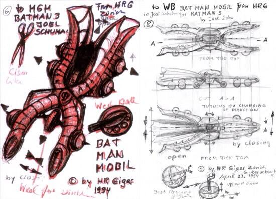 HR Giger's un-used BATMOBILE design from 1994 is gloriously surreal. #HRGiger http://t.co/vzdBBmHltP