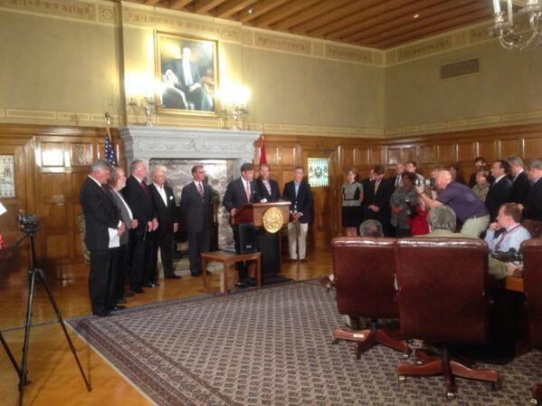 U.S. EDA Ben E. Keith Foods expansion announcement at Arkansas State Capitol
