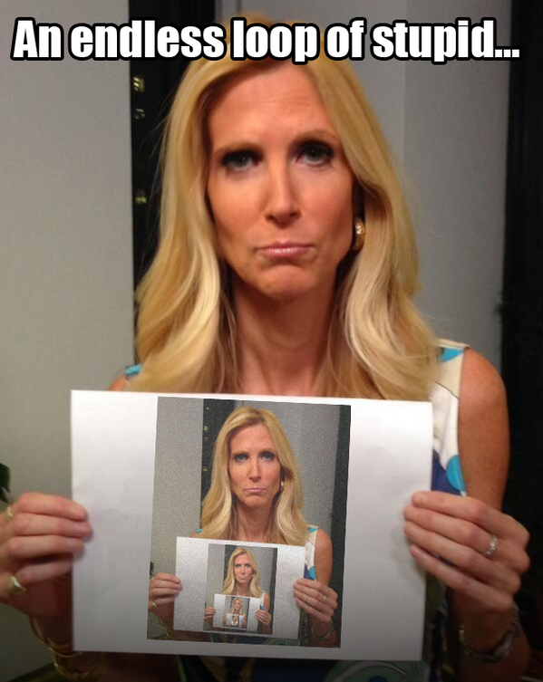 My favorite #AnnCoulter so far. http://t.co/x1joh6s8Ce http://t.co/yjiLsV6kHF