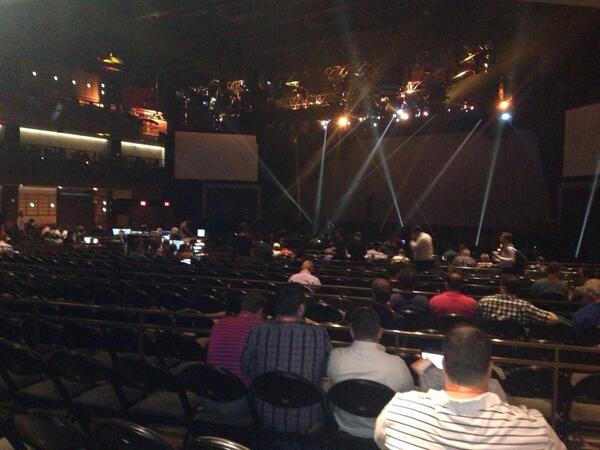 drlrdsen: #magentoimagine keynote stage is huge again. The speakers shall feel like rock stars. Good job @magento! http://t.co/0cpIjRSc8d