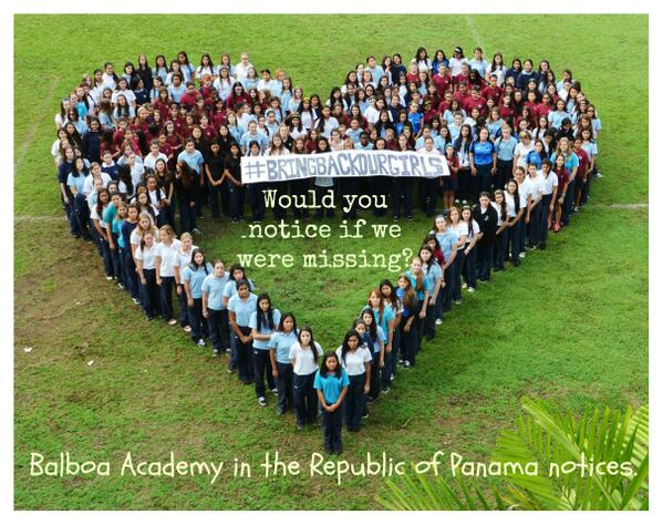 """If 200 of us went missing... would you notice?"" ask #Panama schoolgirls. Thanks @uniceflac #BringBackOurGirls http://t.co/1vlq2iWP69"