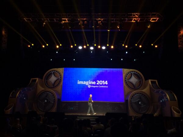 blackbooker: Roy himself has been welcomed to the stage. IMAGINE what is about to be unveiled!! #magentoimagine http://t.co/2teWP8b9jH