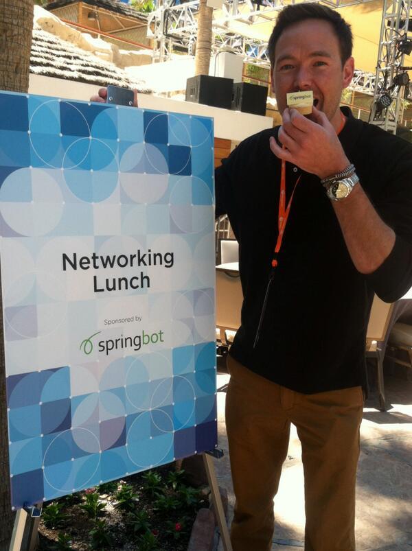 springbot: Check out @joereger enjoying some @Springbot branded key lime pie. -  #magentoimagine http://t.co/mLTZnwYJn9