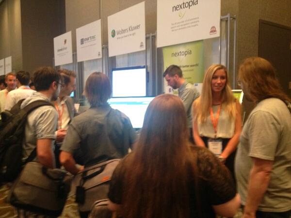 Nextopia: Lots of people coming by the booth today at #MagentoImagine! Make sure to visit Booth 53 and meet the Nextopia team! http://t.co/0W9uJBcvGn