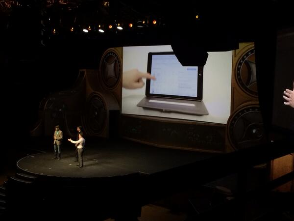 magento_rich: New theme is content centric and not device centric. #ContentIsKing #MagentoImagine http://t.co/5GTiQUnJll