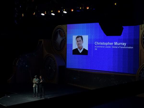 magento_rich: Christopher Murray from 3M on stage. #MagentoImagine http://t.co/rYLwN5RFDn