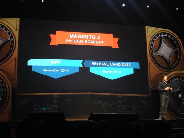 kj187: Here you can find the official #magento2 roadmap. Live from #MagentoImagine in Las Vegas #magento http://t.co/neGk63QBVo
