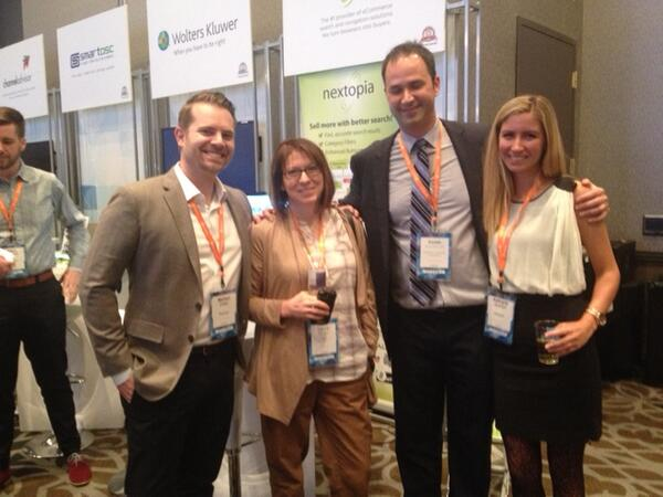 Nextopia: We love meeting our customers at #MagentoImagine! Here's Laura from @NCRCorporation with the Nextopia team: http://t.co/bwHG7tlBpL