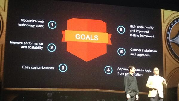 kj187: This are the #magento2 goals. Live from #MagentoImagine in Las Vegas #magento http://t.co/aQsar5k5pl