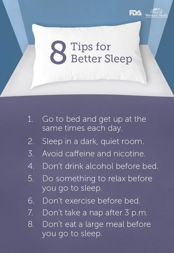 A3 Start each day with a good night's sleep! http://t.co/EIsSCCFQVE   #healthtalk #NWHW http://t.co/q6HxL1KSVv