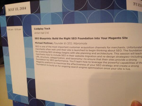 Nellytics: Moving to the next and hopefully my favorite session #SEO #magentoimagine http://t.co/m6IBAvHYOG