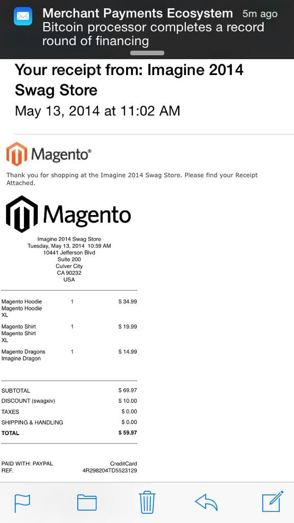 ebizmarts: Just bought some cool stuff at #MagentoImagine Swag store using @ebizmarts POS http://t.co/RNuNMzmIhG http://t.co/8B8KC8FGFK
