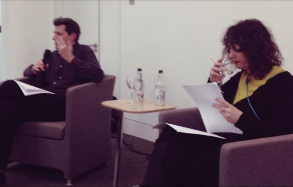 Frédéric Gros & Esther Leslie in conversation to launch A #PhilosophyofWalking @waterstonesPicc http://t.co/yoLYc3DZcJ