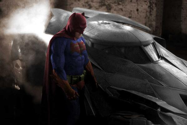 I don't know, you guys.  Have you seen the new BATMAN picture in FULL COLOR?  The black & white hides a lot. http://t.co/8H3NSldv8e