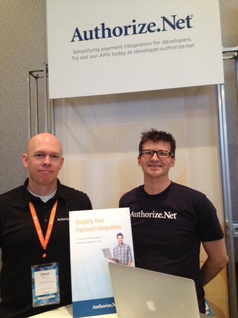 AuthorizeNet: P.S. This is Dean and Brian. Kiosk # 44 in the Imagine Marketplace. #MagentoImagine http://t.co/mFDZLEjFE9