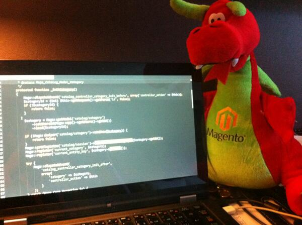 allanmacgregor: @magento @benmarks now when looking at the source code I can literally say 'Here, there be dragons' #MagentoImagine http://t.co/GhAlXjpHss