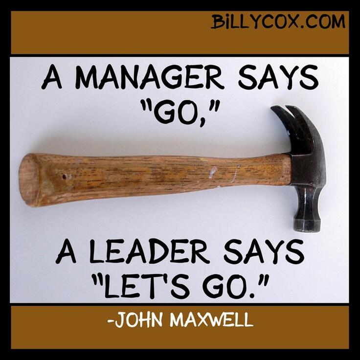 تويتر / mgmtrockstar: A #manager says 'go'. A leaders ...