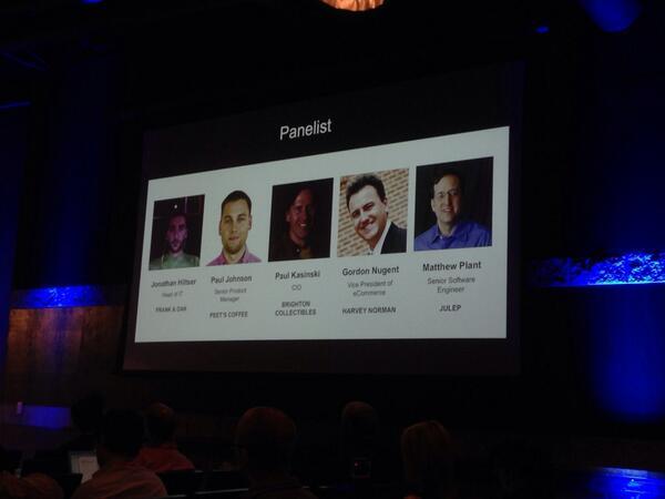 JoshuaSWarren: Amazing group of large, successful Magento merchants sharing secrets of success. #MagentoImagine http://t.co/wooj1KDDth