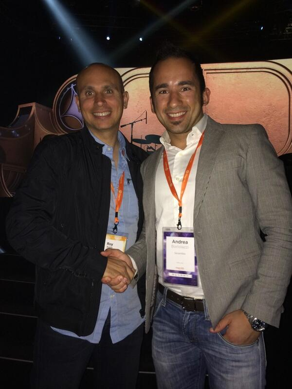 ABortolazzi: @SevenlikeSrl: Con Roy Rubin: il fondatore di Magento! LIVE from #MagentoImagine #LasVegas http://t.co/qYo74q5rHO