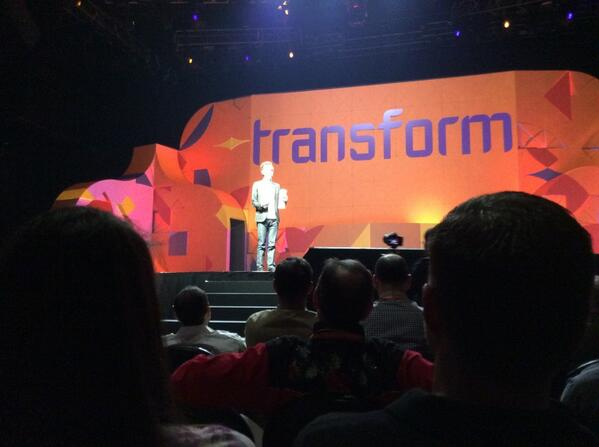 drlrdsen: Mr. @Gladwell on stage. Keeping us from something better. Like enjoying Celine Dion. #MagentoImagine http://t.co/jHuslA2CKX