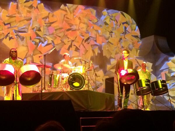 RevenueConduit: #MagentoImagine @malcolmgladwell's opening steel drum band singing 'Let's get together and feel Alright' http://t.co/3wvEZD2Yt9