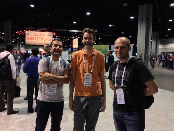 A gathering of Swift devs - @chmouel @juldanjou and a rare Greg Holt sighting. http://t.co/yzoqzX5h7s