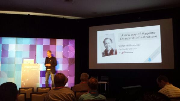 flagbit: Stefan Willkommer #techdevision hits the stage with their appserver.io  #MagentoImagine http://t.co/rBhhjMbhoP
