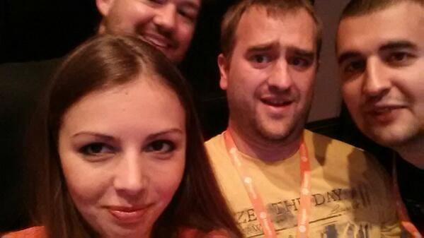 ivanweiler: You really get to meet cool people at #MagentoImagine ;) @elena_a_leonova @philwinkle @MariusStrajeru http://t.co/EJw0SFWCPg