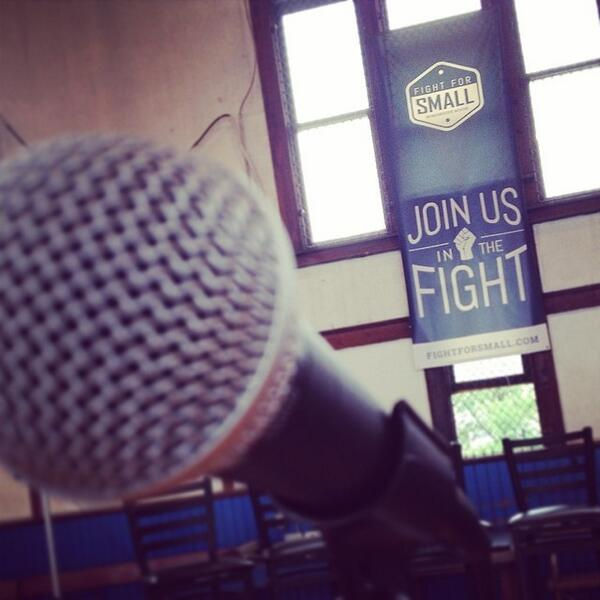 Step up to the mic and ask some tough questions tonight! #fightforsmall http://t.co/sfqBikFp9w