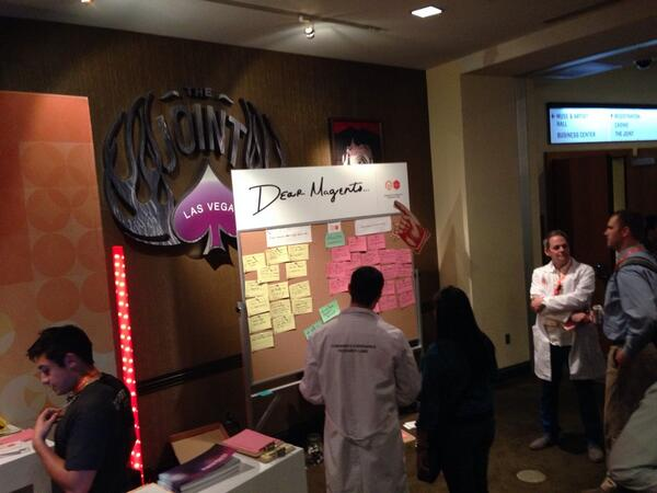 coburnhawk: Come see @MagentoCERL right next to registration #MagentoImagine http://t.co/tZdd15xUsc