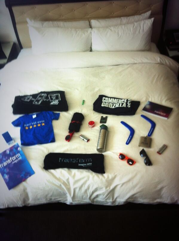 gemgento: #MagentoImagine - only day two and look at all this @magento #swag - great people - great products ! http://t.co/YBGGhGY9fS