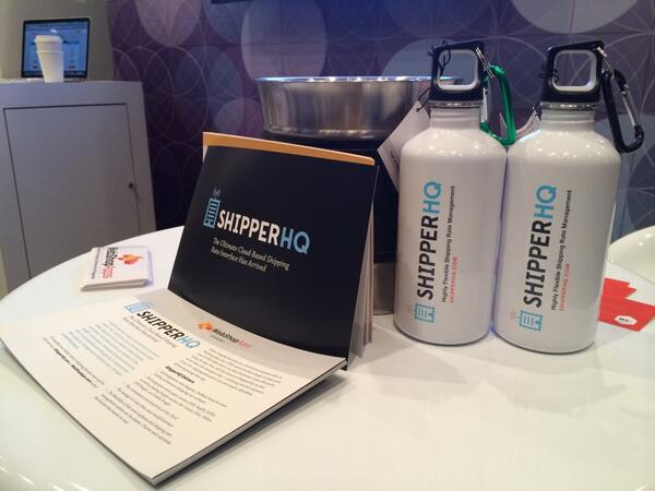 ShipperHQ: We're loving giving away demos of ShipperHQ and our awesome water bottles! Stop by Booth #60 at #MagentoImagine http://t.co/S3y2vpaWAH