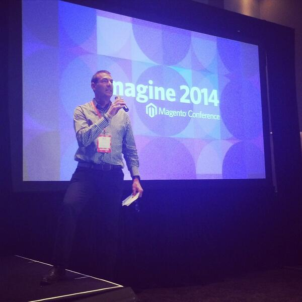 lindseybreeden: Great to see @BobSchwartz back on stage! #MagentoImagine http://t.co/TrFlegNzC8